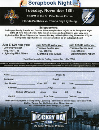 Lightning flyer for scrapbooking night