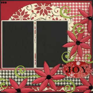 Joy Christmas layout