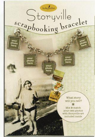Scrapbook bracelet