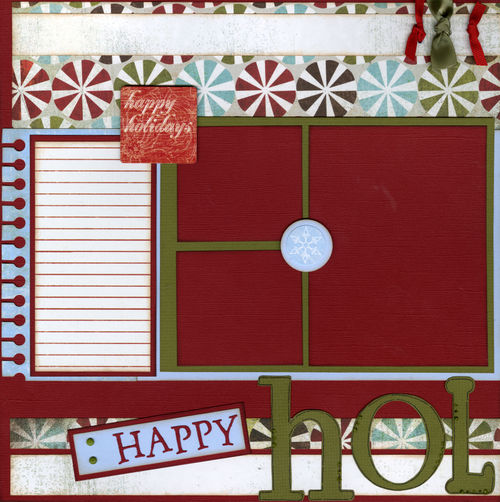 Happy Holidays layout page 1