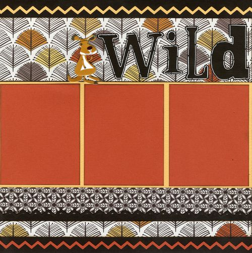 Wild Things layout page 1