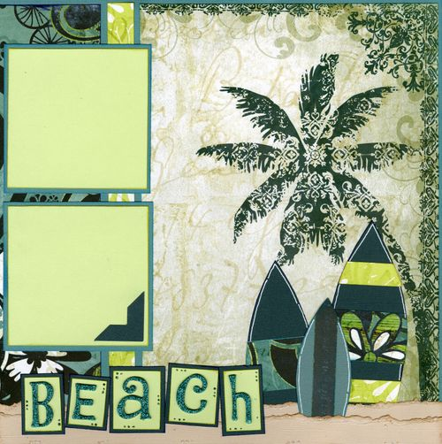 Hit the Beach layout CHA kit page 2