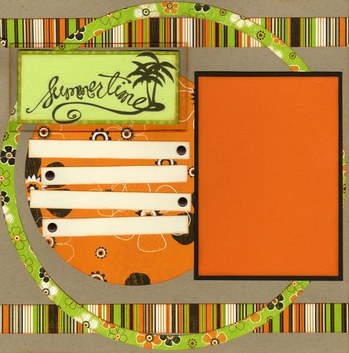 Summertime layout CHA kit page 1