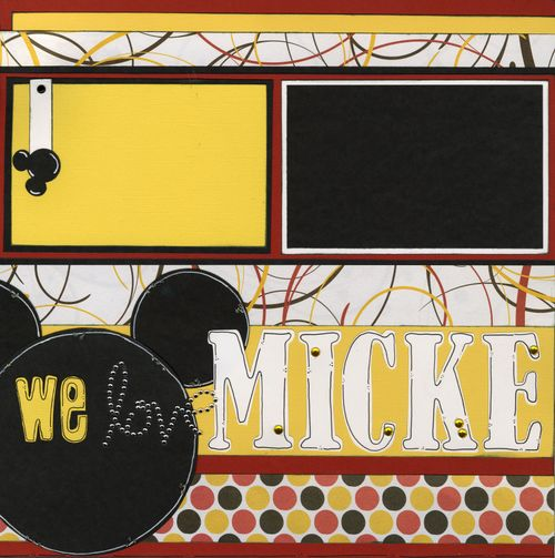 We love Mickey Mouse CHA kit page 1