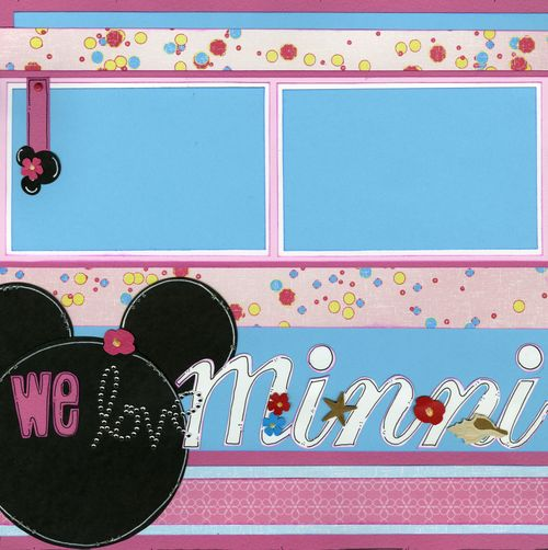 We love Minnie Mouse CHA kit page 1