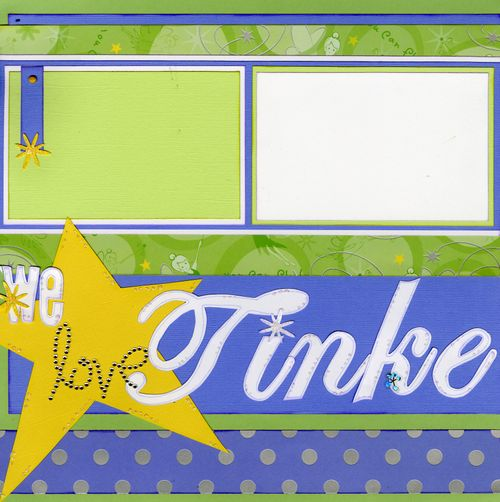 We love Tinkerbell CHA kit page 1