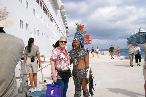Leaving ship in Cozumel