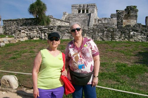 Tulum in the background