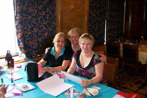 Pam, Patti and Ellen in class