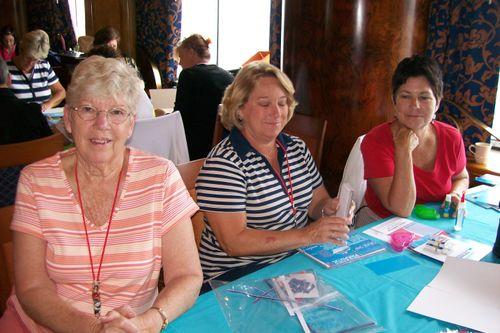 Shirley, Ruan and Karen in class