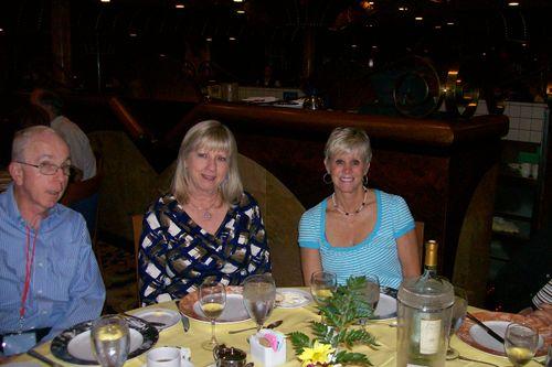 Barb and Deb at dinner