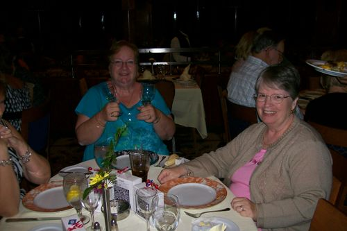 Pat and Donna at dinner