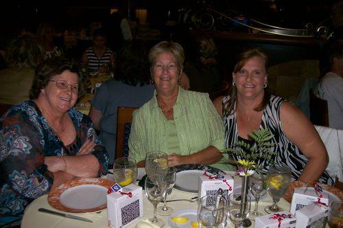Fun at dinner, Mary Teri Lynn and Lynn