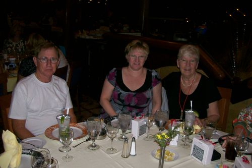 Don, Ellen and Shirley at dinner