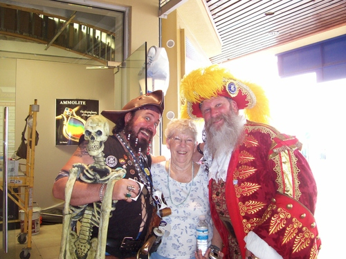 Pirates in Grand Cayman with Shirley