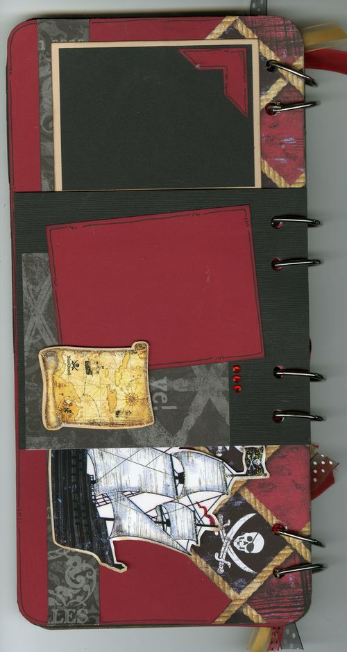 Pirate Book page 2 front side with flap